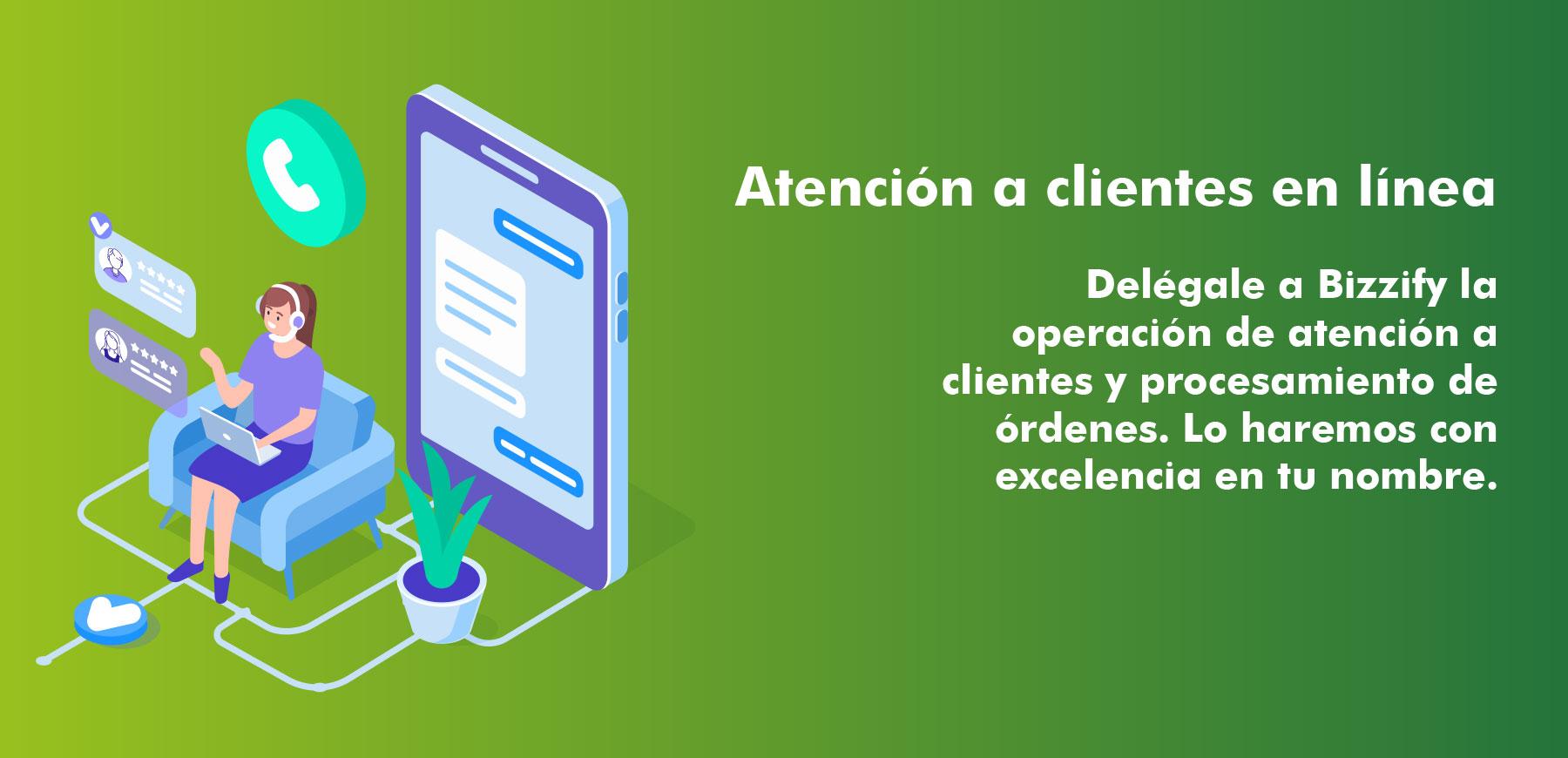 Banner servicio de atención a clientes en linea